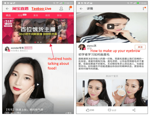 On Taobao Live, ecommerce sellers are expanding their marketing efforts through livestreaming.