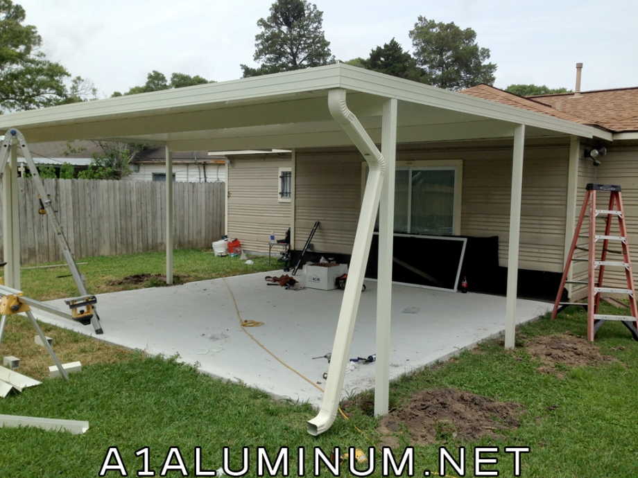 aluminum patio cover ivory in houston