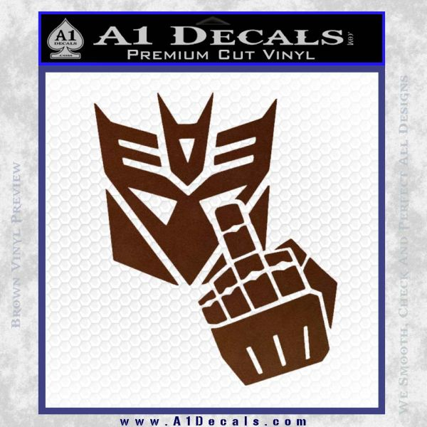 Decepticon Flipping Off Decal Sticker 187 A1 Decals