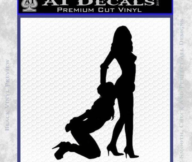 Sexy Lady Eating Ass Decal Sticker Black Vinyl 120x120