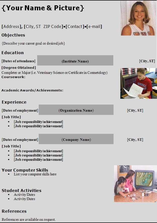 Student Resume Example. Resume Writers Com Resume Writing Service