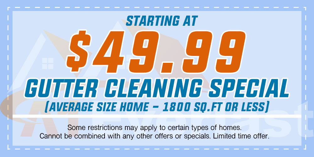 $49.99 Gutter Cleaning Special