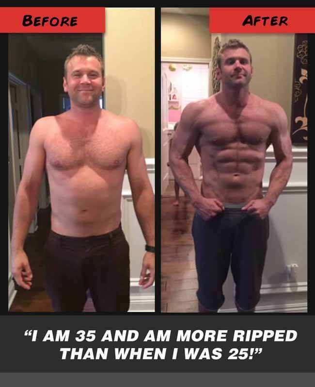 Jims Bodybuilding Before & after