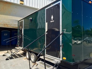 Medium Restroom Trailer Rentals DE - Outside