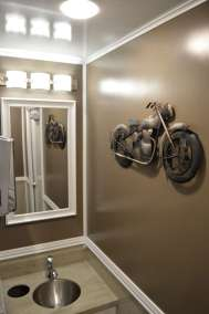Biker Themed Restroom Trailer