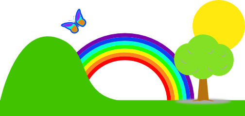 clip rainbow clipart transparent background rainbows cliparts there trail library clipartix road mist walk help related clipartcow dark presentations projects