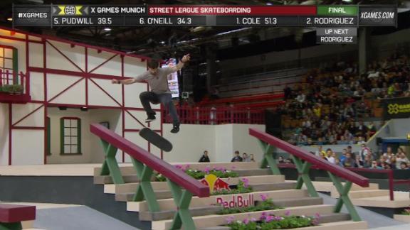 Chris Cole Wins Street League Skateboarding At X Games