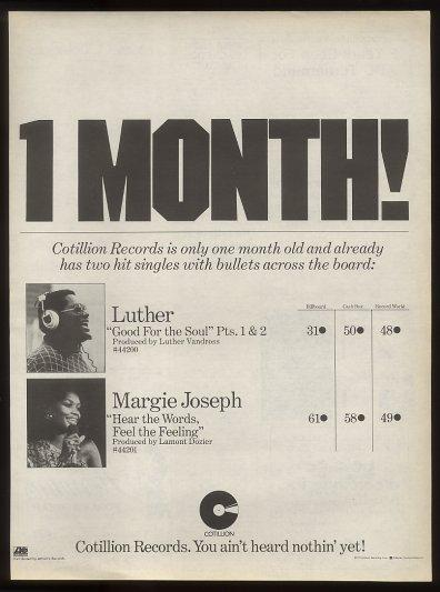 Cotillion Records Ad from 1976 in My Photos by