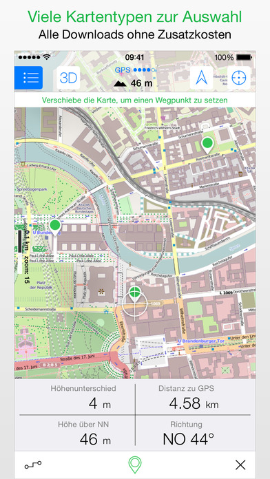 Maps 3D PRO - GPS für Fahrrad, Wandern, Ski Screenshot