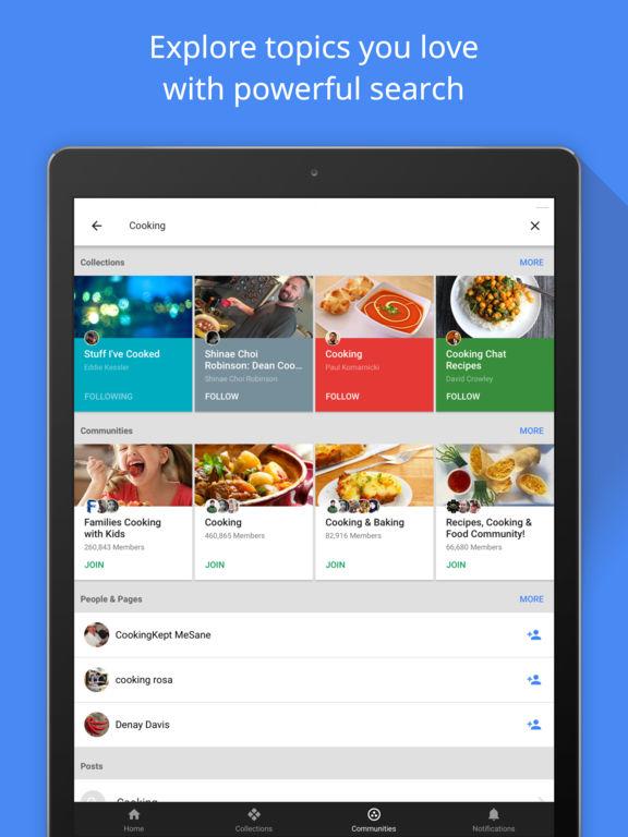 Google+ – Interessen, Communities, Suche Screenshot