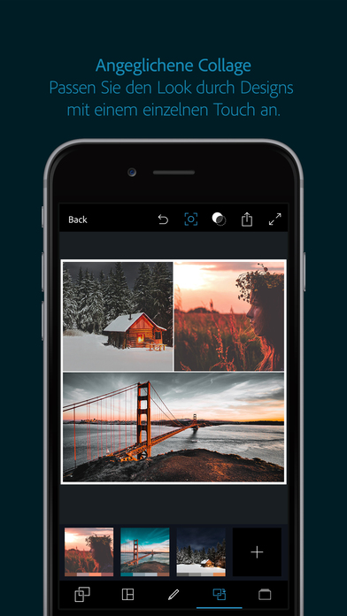 Adobe Photoshop Express : Fotos bearbeiten Screenshot
