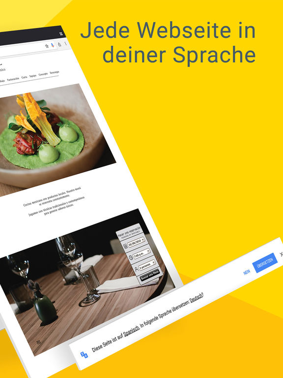 Chrome – der Browser von Google Screenshot