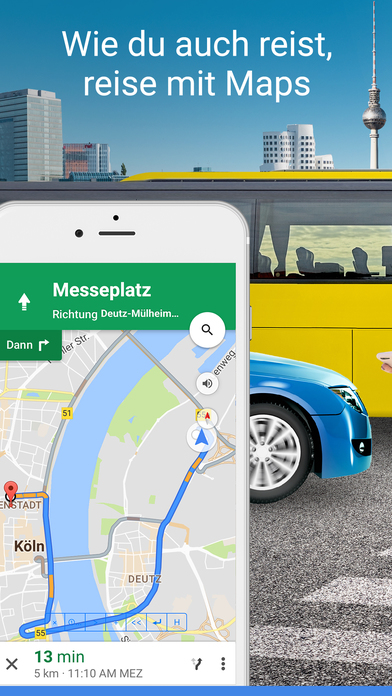 Google Maps – Navigation, Bus, Bahn & Verkehr Screenshot
