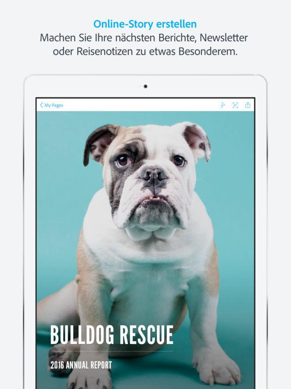 Adobe Spark Page Screenshot