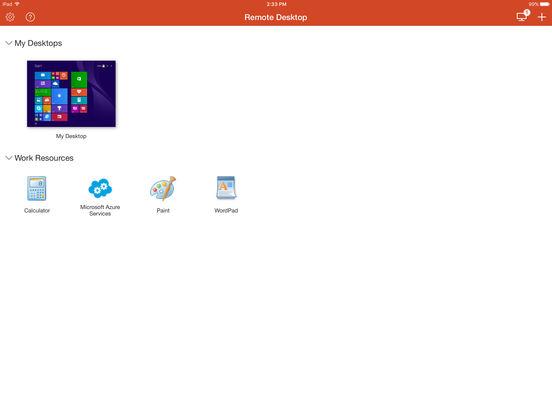 Microsoft-Remotedesktop Screenshot
