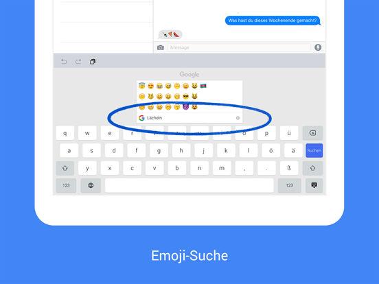 Gboard — Google-Suche, direkt über die Tastatur Screenshot