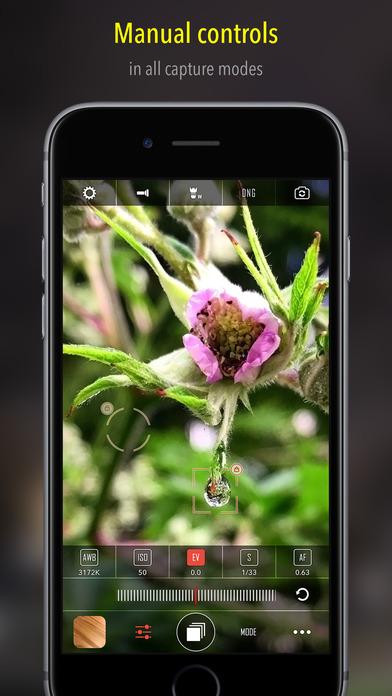 CameraPixels - manual camera + RAW Screenshot