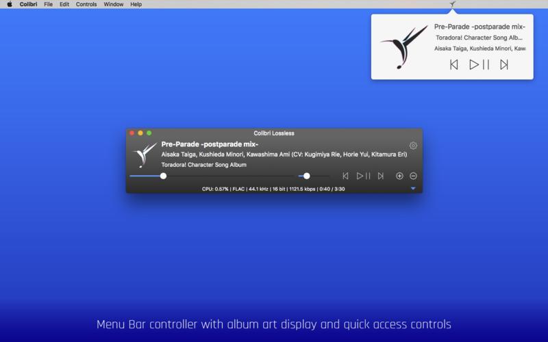 Colibri 1.9.1 Mac 破解版 - 优秀的无损音乐播放器