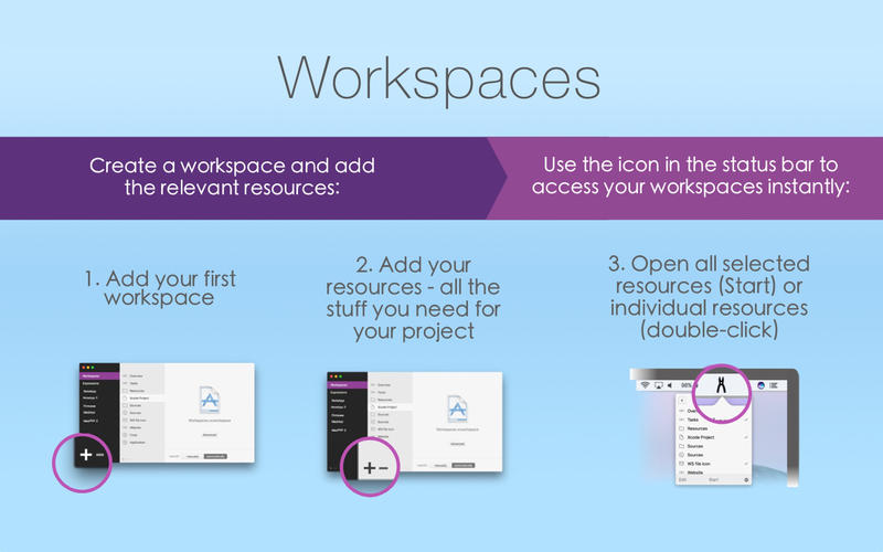 Workspaces 2.0.3 Mac 破解版 - 优秀的工作空间快速切换工具