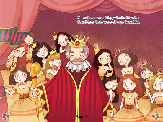 Twelve Dancing Princesses - Fairy Tale iBigToy iPad