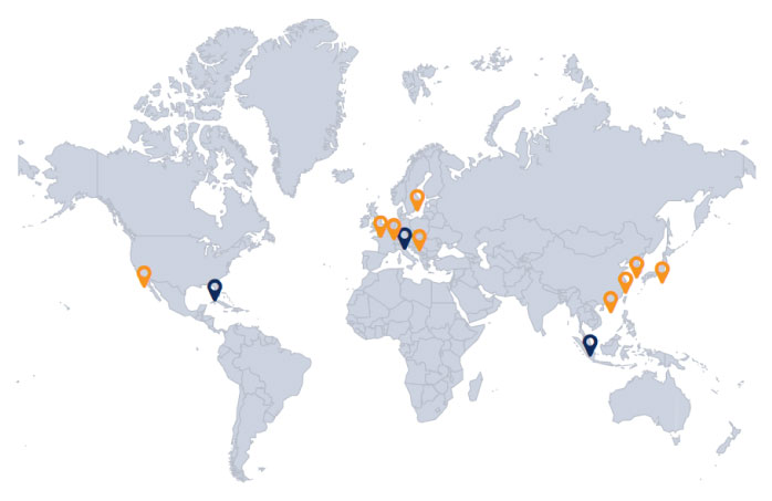 A2 Global Locations