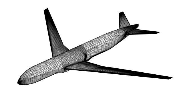 Transport Aircraft Model - 13.5 Wing Aspect Ratio