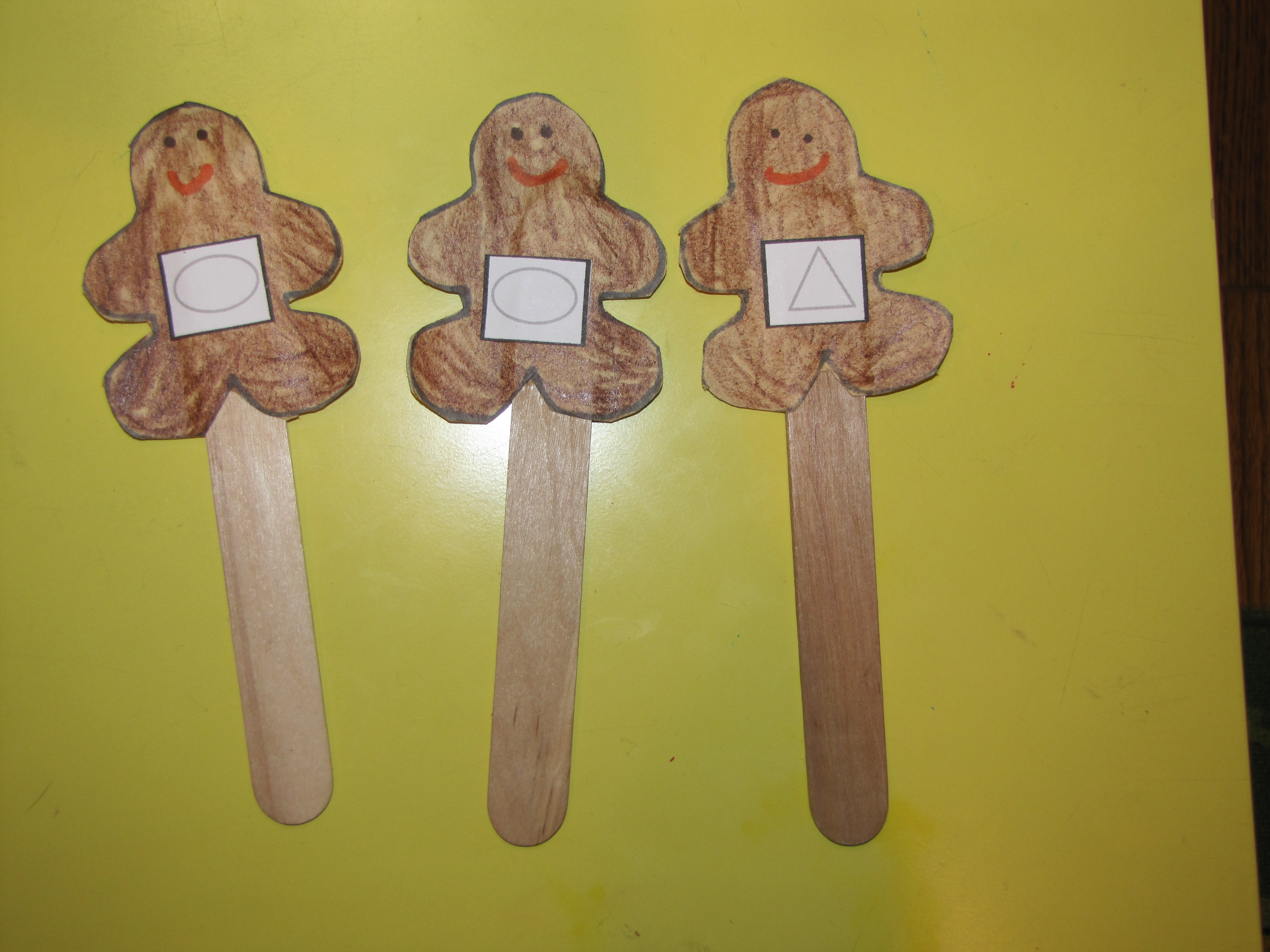 Gingerbread Man Shape Matching And Sorting