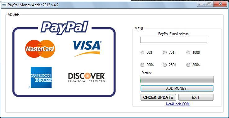 PayPal Money Adder Activation Code Free Download