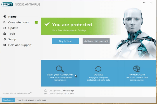 ESET NOD32 Antivirus 2019 12.1.31.0 License Key Free Download