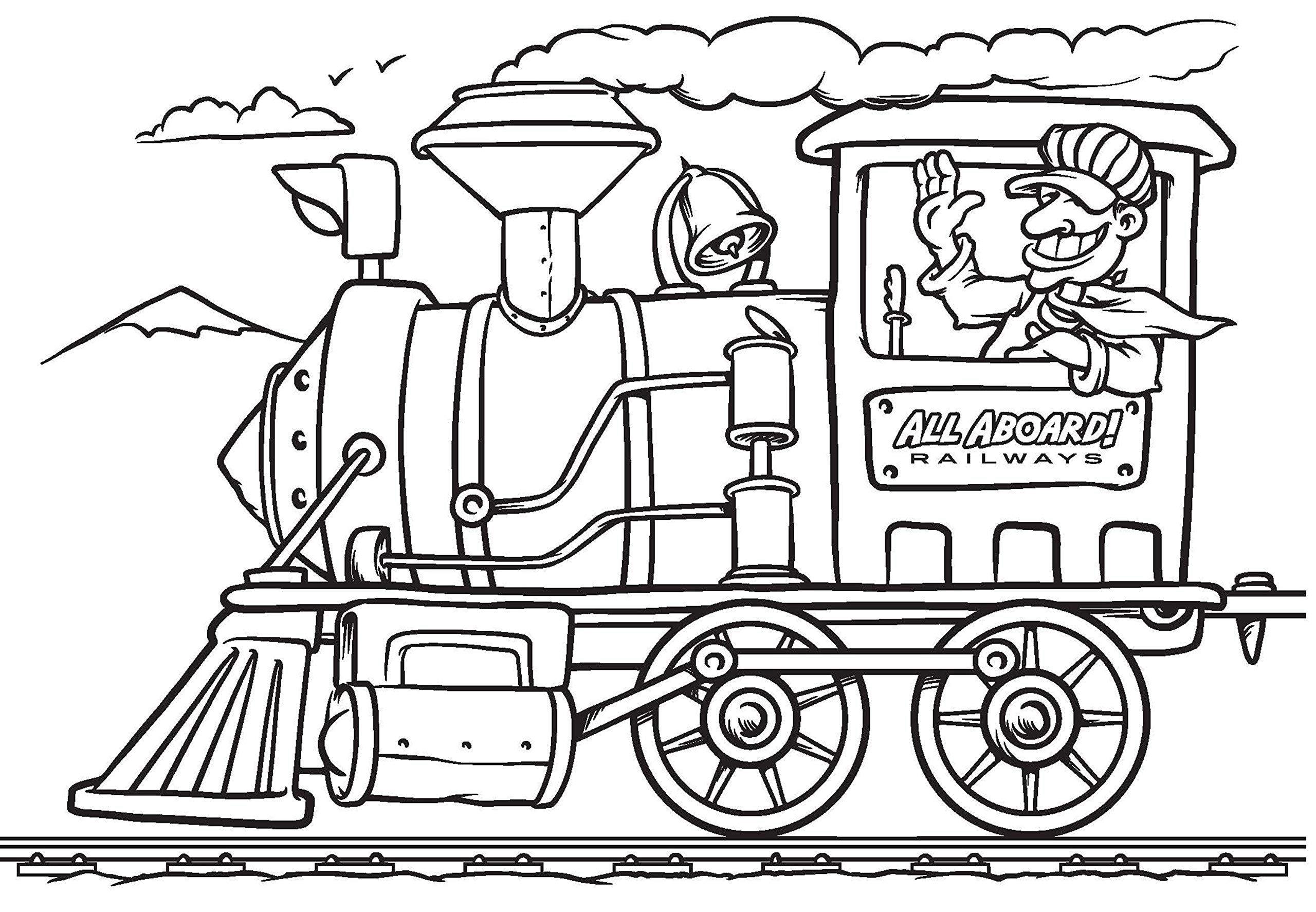 Things That Go Coloring Book Cars Trucks Planes Trains