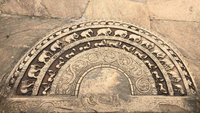 """The moonstone of """"Vatadageya"""""""