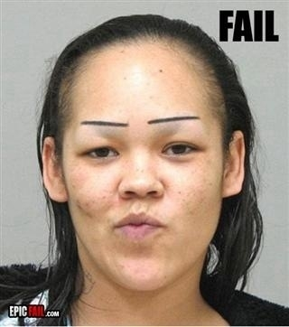 Oh shit, I've over plucked my eyebrows again. I'll just draw them on. Can you guys tell?