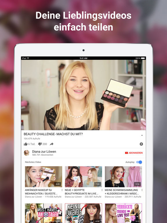 YouTube – Video, Clip & Musik ansehen und uploaden Screenshot