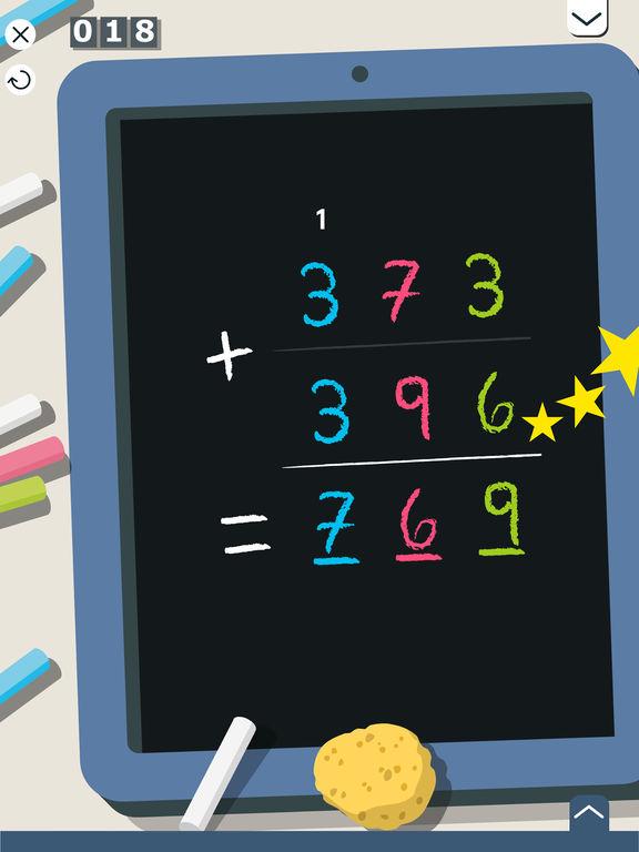 Montessori Rekenen: optellen & aftrekken van grote getallen Screenshot