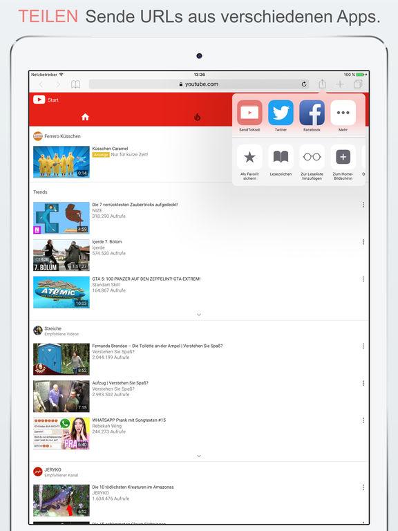 SendToKodi Screenshot