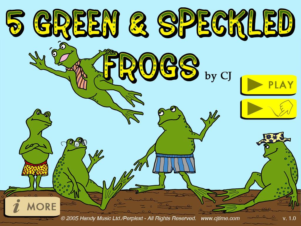 App Shopper 5 Green Amp Speckled Frogs Music