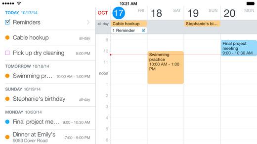 Fantastical 2 for iPhone - Calendar and Reminders Screenshot
