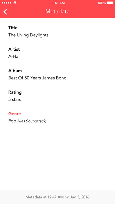 Screenshot do app Music Tracker - Keep track of your music library