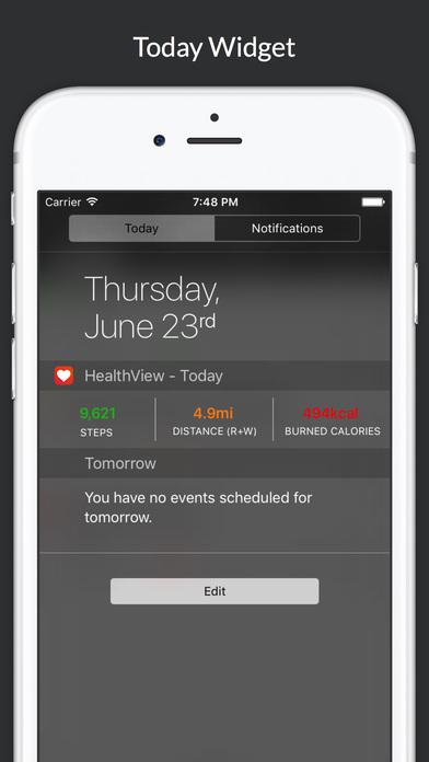 Screenshot do app HealthView - Your Health & Fitness Data Dashboard