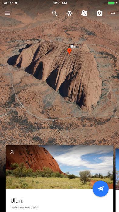 Screenshot do app Google Earth