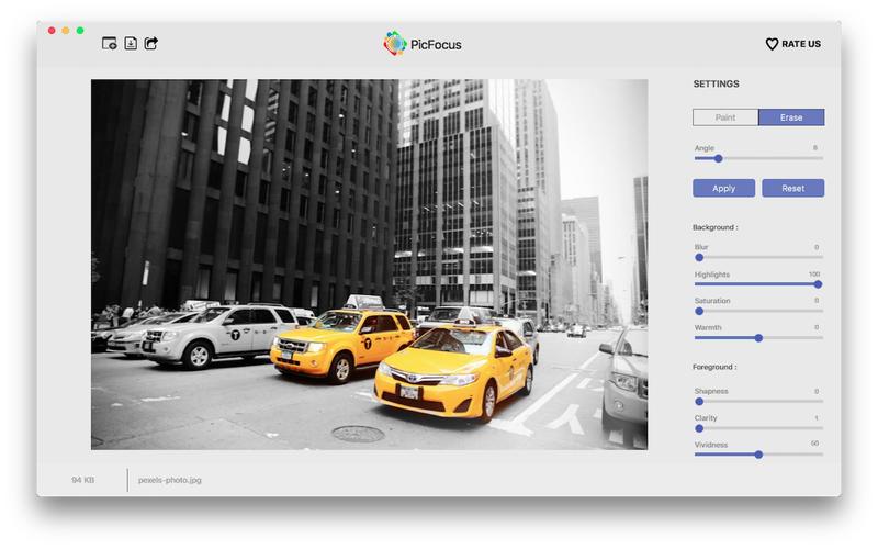PicFocus for Mac 2.3 破解版 - 图像模糊效果制作工具