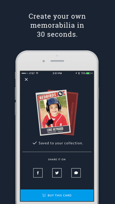 Rookies Create Amp Print Baseball Cards On The App Store