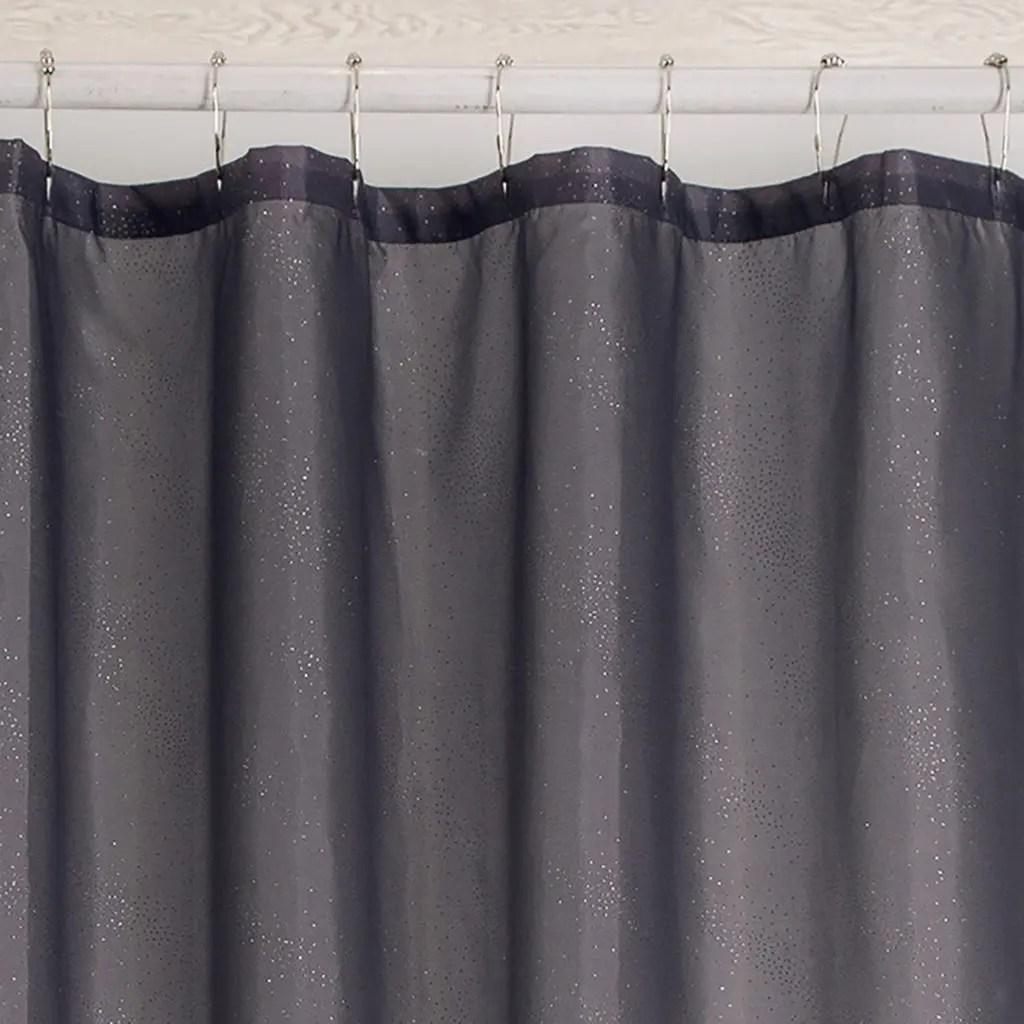 rideau de douche paillette gris best