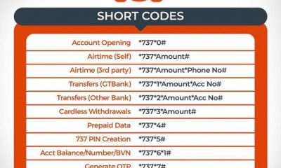GTB USSD code to transfer and check account balance