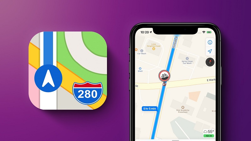 How to report car accidents on your phone in Apple Maps