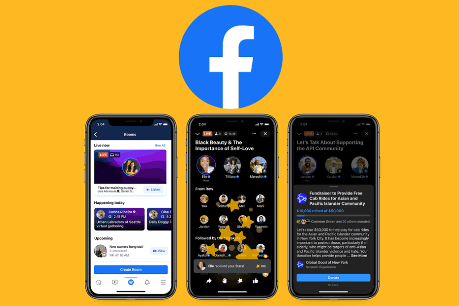 Facebook launches 'Live Audio Rooms' feature as an alternative to Clubhouse
