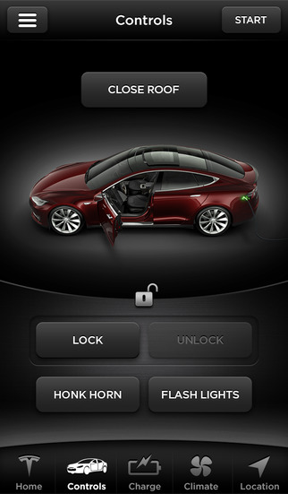 App Tesla