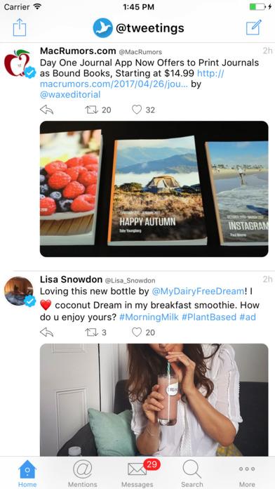 Tweetings - Twitter Client for iPhone Screenshot