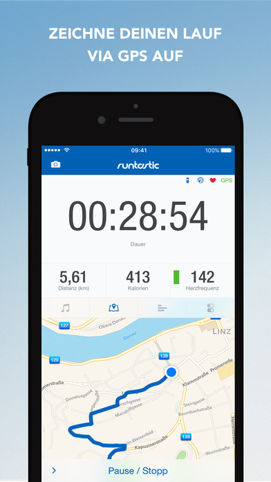 Runtastic PRO GPS Laufen, Joggen, Fitness Tracker Screenshot