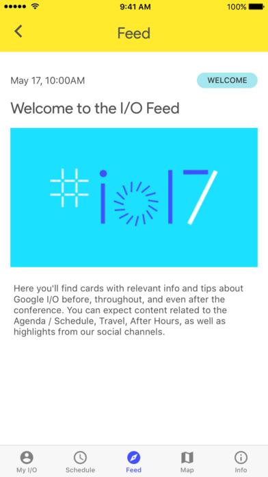 Google I/O 2017 Screenshot